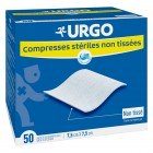 URGO COMPRESSES STERILE 50 BAGS X 2 75MMX75MM